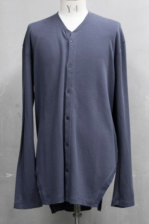 JULIUS 20PS FRAMED HEM CARDIGAN Blue Gray