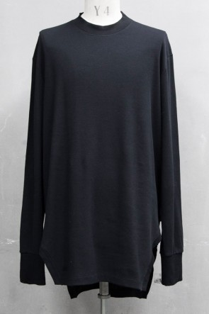 JULIUS 20PS FRAMED HEM SHIRT Black