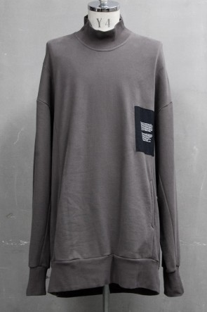JULIUS 20PS MOCK-NECK PULLOVER Dust