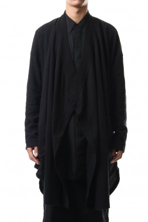 JULIUS 20PS DRAPE GOWN Black