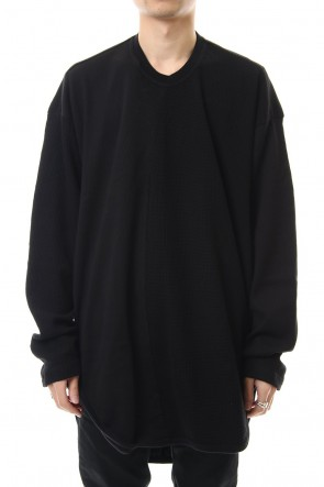 JULIUS 20PS 2 FACE TUCK SHIRT Black