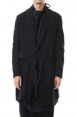 JULIUS 20PS LOZENGE COLLAR TAILORED JACKET Black