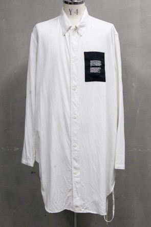 JULIUS 20PS DRAWCORD LONG SHIRT Off