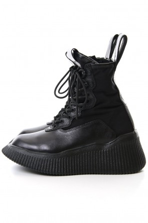 JULIUS 20SS Side zip lace-up boots