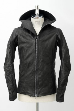 Cow Leather Hooded Jacket