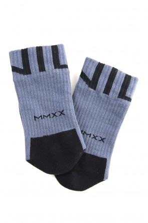 NILøS 20SS Graphic socks Blue Gray