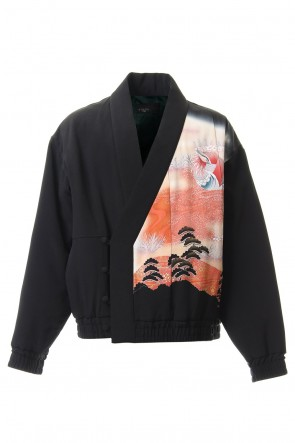 Silk Georgette Wildfowl Embroidery Padding Jacket