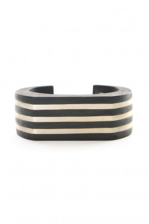 Parts of Four 18-19AW Crescent Plane Bracelet (Deco Bars, 30mm, KU+MA)