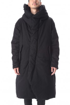 JULIUS 20-21AW PADDED DENIM COAT Black