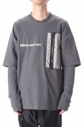NILøS 20-21AW 3M POCKET LS T-SHIRT Gray
