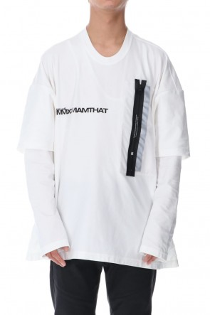 NILøS 20-21AW 3M POCKET LS T-SHIRT White