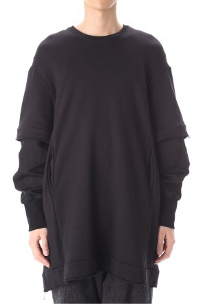 JULIUS 21PS Layered sleeve Pullover