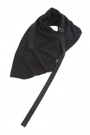 JULIUS 21PS Strap Stole Black