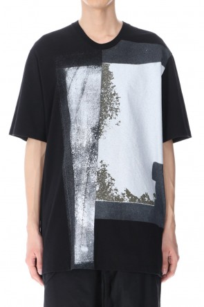 JULIUS 21SS GRAPHIC T-SHIRT Ver. 3 BLACK×BLACK