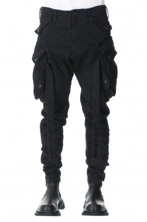 JULIUS 21SS GAS  MASK SKINNY PANTS BLACK