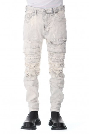 JULIUS 21SS CRASH DESTROYED PANTS PLASTER