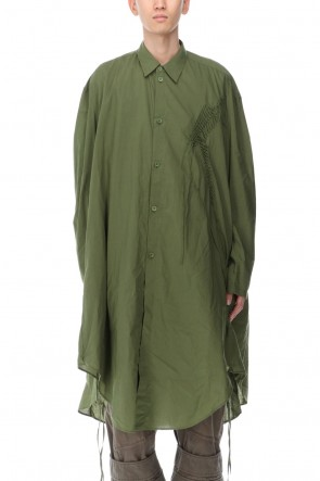 JULIUS 21SS LONG SHIRT GREEN