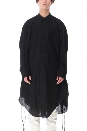 JULIUS 21SS LONG SHIRT BLACK