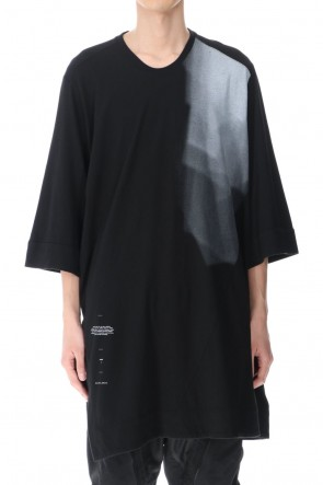 JULIUS 21PF Slit LS T-shirts Black