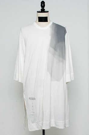 JULIUS 21PF Slit LS T-shirts Off