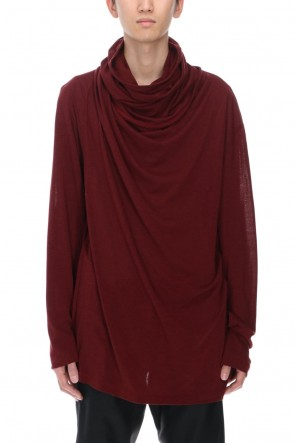 JULIUS21-22AWCowl neck Cutsew Red