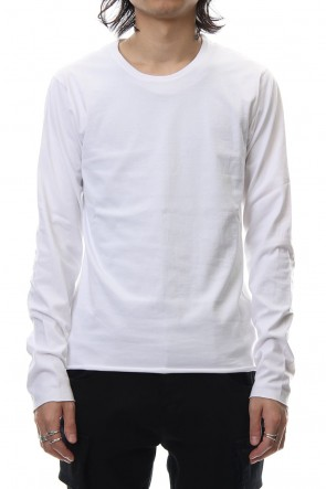 wjk 18-19AW Standard jersey crew neck L/S - White