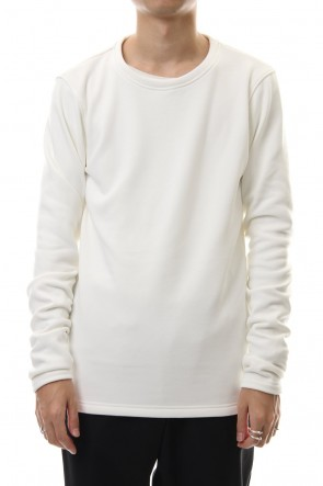 wjk 19-20AW Thumbhole trainer (Back boa) White