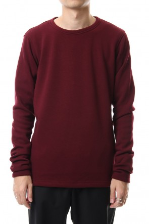 wjk 19-20AW Thumbhole trainer (Back boa) Burgundy
