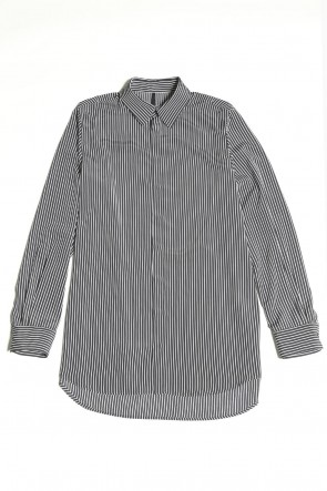 GalaabenD 20-21AW Stripe Shirt (Black×Off White)