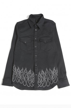 GalaabenD 20-21AW EX. Fire Metal Dot Denim Shirt