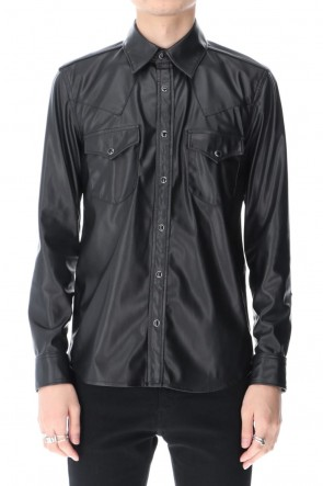 GalaabenD 20-21AW Fake Leather Shirt