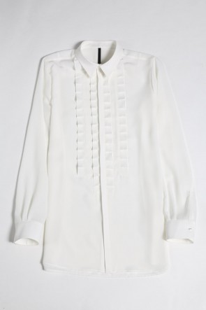 GalaabenD 20-21AW Pin Tuck Shirt (Off White)