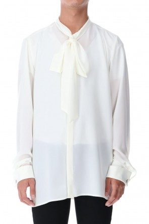 GalaabenD 20-21AW Ribbon Shirt (Off White)