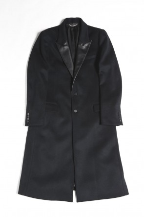 GalaabenD 20-21AW Leather Lapel Chesterfield Coat