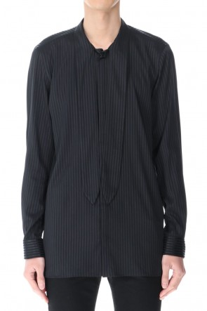 GalaabenD 21SS Stripe Ribbon Shirt Black