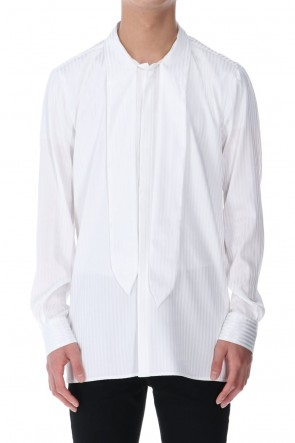 GalaabenD 21SS Stripe Ribbon Shirt White