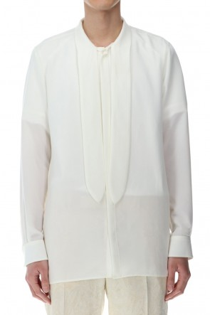 GalaabenD 21SS Ribbon Shirt Off White
