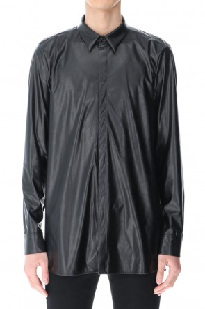 GalaabenD 21SS Fake Leather Shirt Black