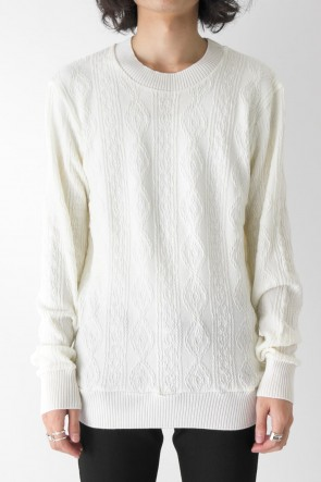 GalaabenD 17-18AW BARUFY CABLE PULLOVER