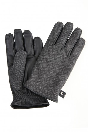 wjk 19-20AW Down glove Gray Herringbone