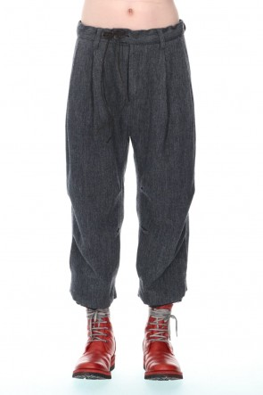 D.HYGEN21-22AWMinimal Dobby Striped Pleated Cropped Pants Charcoal