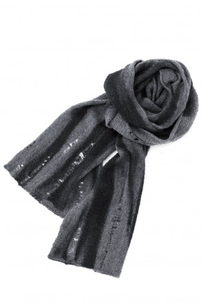 masnada 20-21AW HAND MACHINE KNIT EXTRA LONG SCARF Storm Gray