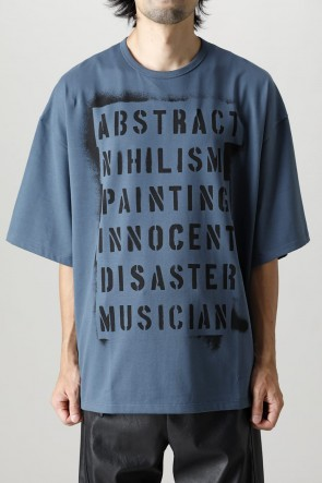 LAD MUSICIAN21-22AWHeavy T-cloth print super Big tee 1 Orion Blue