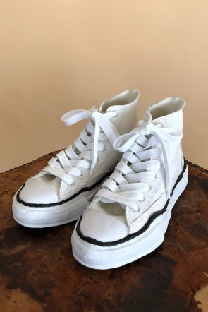 MIHARAYASUHIRO 19-20AW Original sole Canvas Hi cut sneaker White