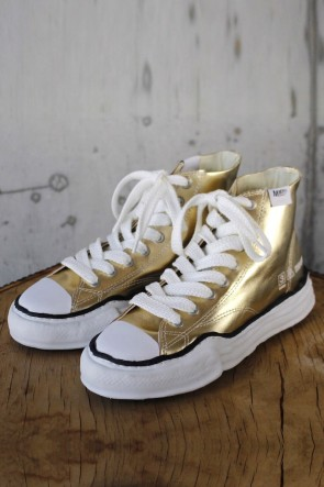 MIHARAYASUHIRO 19-20AW Original sole Leather Hi top sneaker Gold