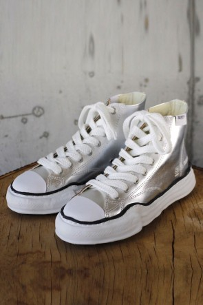 MIHARAYASUHIRO 19-20AW Original sole Leather Hi top sneaker Sliver