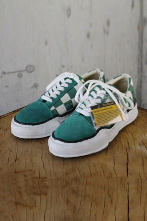 MIHARAYASUHIRO 19-20AW BIG GINGHAM LOWCUT SNEAKERS Green