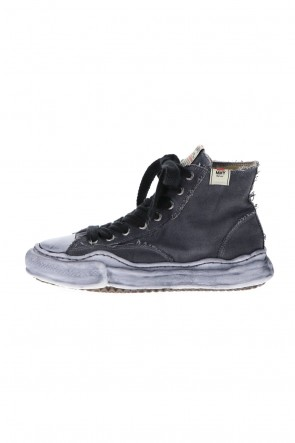 MIHARAYASUHIRO 21SS -PETERSON- Original sole over dyed Hi-top sneakers Black