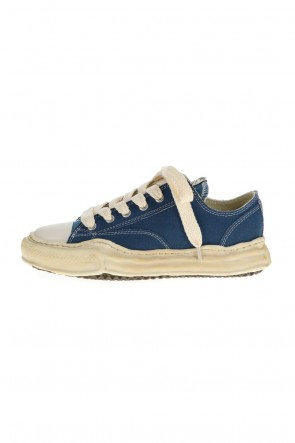 MIHARAYASUHIRO21-22AW-PETERSON low- Over-dyed original sole canvas Low-Top sneakers Blue