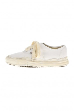 MIHARAYASUHIRO21-22AW-BAKER- Over-dyed original sole canvas Low-Top sneakers White